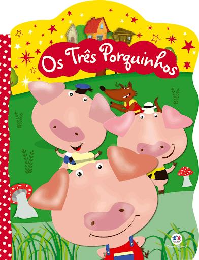 """Capa do livro """"Os Três Porquinhos""""."""
